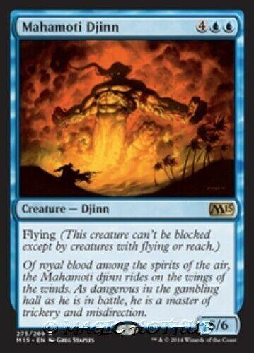 MAHAMOTI DJINN M15 Magic 2015 MTG Blue Creature — Djinn RARE