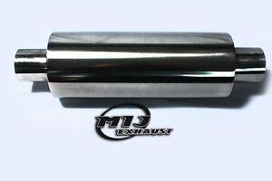 Universal-4-034-X-1-75-034-X-10-034-Resonador-Silenciador-Silenciador-De-Escape-Caja-posterior-45mm