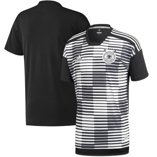adidas Germany FIFA WC World Cup 2018 Elite Training Soccer Jersey Black White