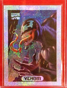 1994-Venom-Silver-Holofoil-9-of-10-Marvel-Masterpieces-Sleeve-Loader-Near-MINT