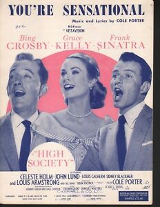 You-039-re-Sensational-1955-High-Society-Bing-Crosby-Grace-Kelly-Sinatra-Sheet-Music