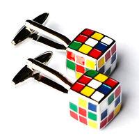 Rubik's Cube Cufflinks - Groomsmen Gift - Men's Jewelry - Gift Box