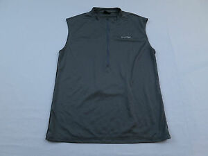 Hind-Mens-Gray-Sleeveless-Bike-Cycling-Jersey-Sz-M-Medium-Shirt-MTB-1-2-Zip-Race