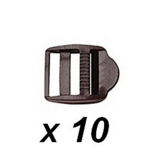 10 Boucles d/'ajustement  largeur utile 30 mm noires