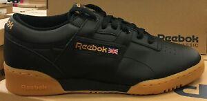 Details about REEBOK Classic Workout Low Men's RunningCasual Shoes BlackGum 67107 L