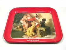 1986 Coca-Cola Brand Serving Tray - Santa With Two Children and Dog