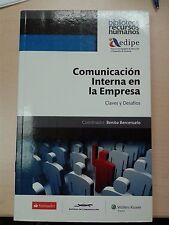 Comunicacion Interna en la Empresa Claves y Desafios  Soft Cover Book NEW