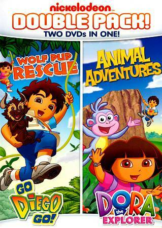 Dora Diego Double Feature Diego Wolf Pup Rescue Dora Animal Adventures Dvd 2012 2 Disc Set For Sale Online Ebay