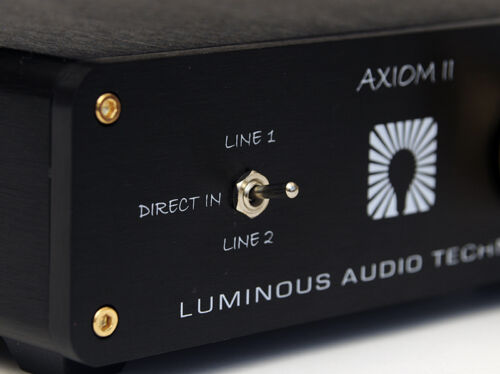 LUMINOUS AUDIO Axiom Mk II passive pre amp. NEW Release