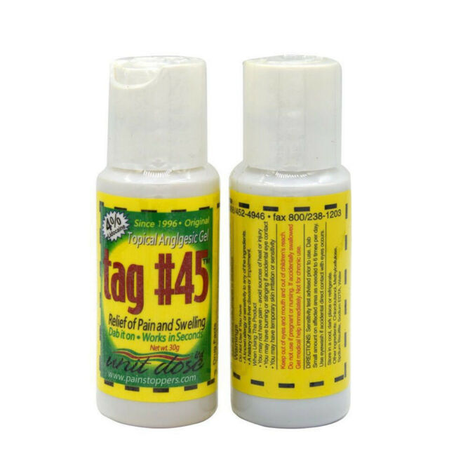 Tag #45 Topical Anesthetic GEL for Numbing Tattooing Piercing Waxing ...