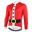 Santa Suit Christmas Cycling Jersey Long Sleeve