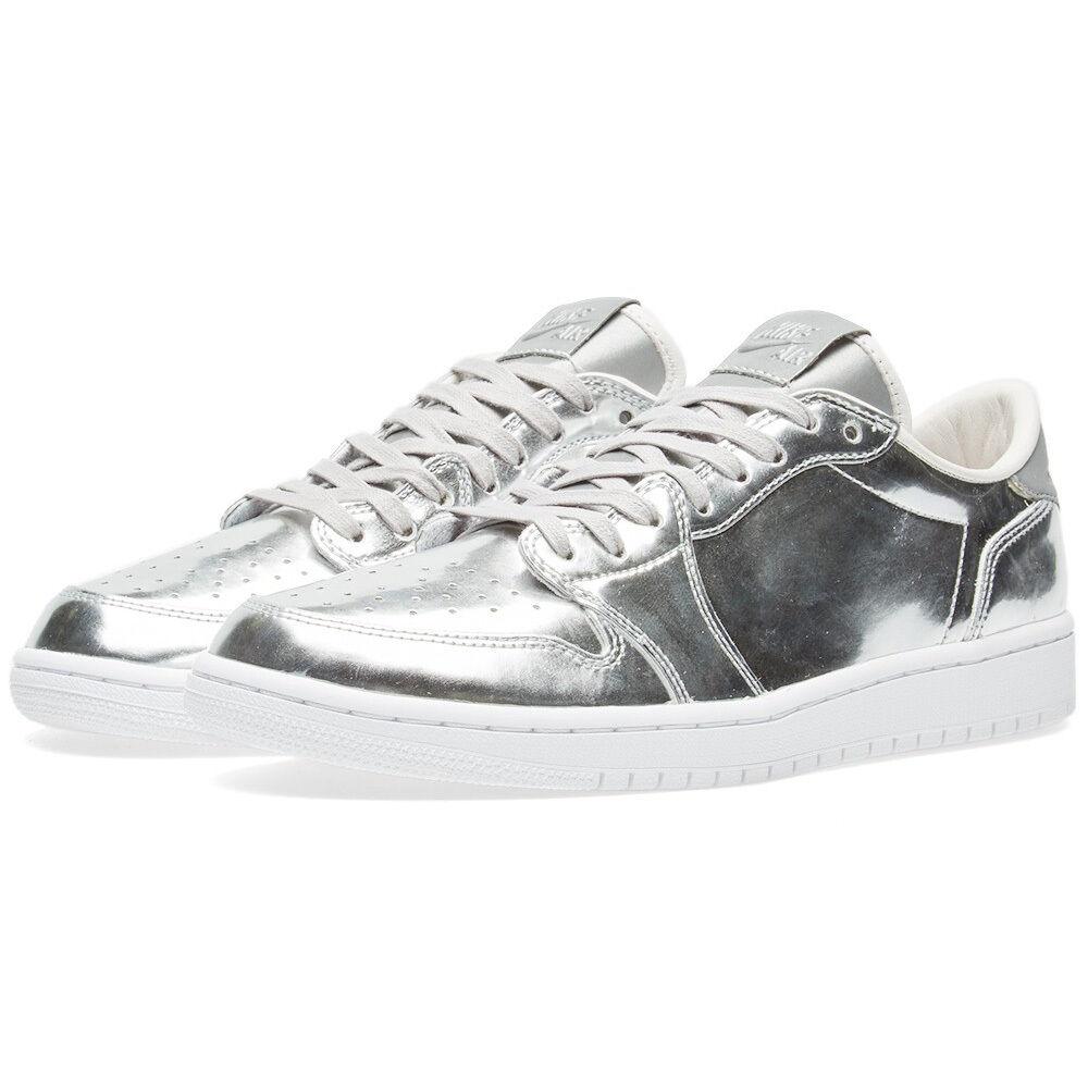Air Jordan 1 I Retro Low OG Pinnacle Metallic Silber Weiß 852549 003