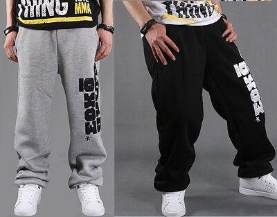 Men's Hip Hop Rap Loose Pants Sweatpants Trousers Cotton Casual Skateboard