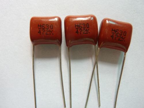 50PCS 472K 630 V 0.0047UF 4.7NF P10 CBB13 metalizada Film Capacitor