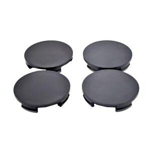 Wheel-Center-hub-Caps-set-4-pcs-60mm-56mm-Black-plain-fit-BMW-E46-E60-K10b