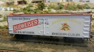 Roundhouse-MDC-Old-Budweiser-Beer-Old-Time-36-039-Reefer-Upgraded-Exc
