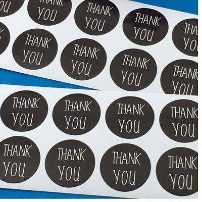 Round Paper Craft Kraft Stickers Thank You Label Gift Food Craft Wedding Seals