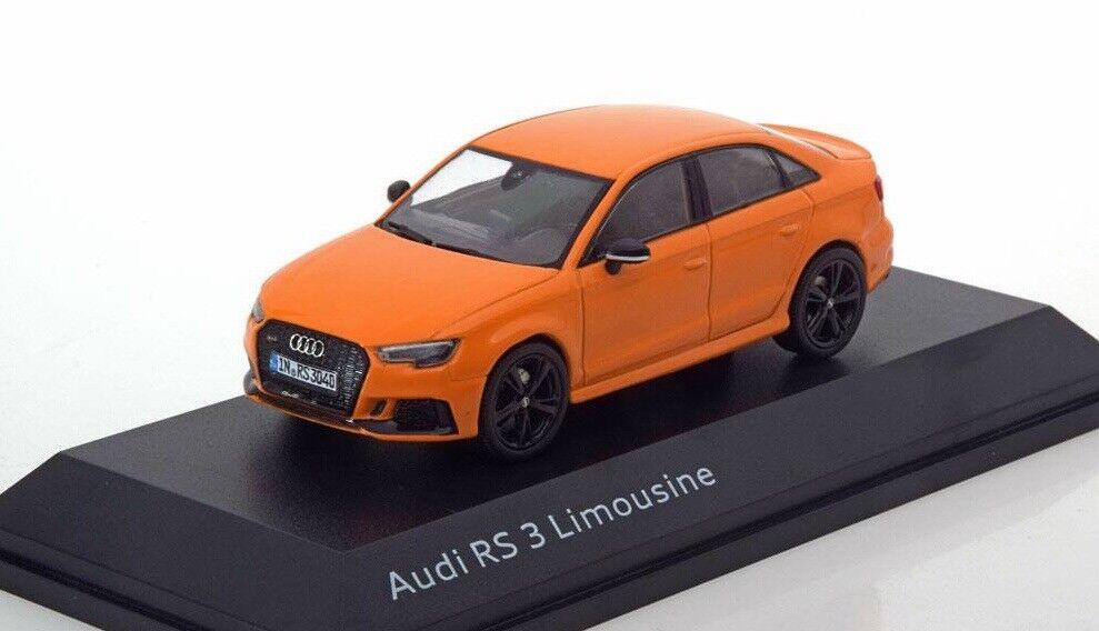 Audi rs 3 erfolge a3 8v 2018 solar Orange saloon limousine 1 43 i-scale dealer - modell