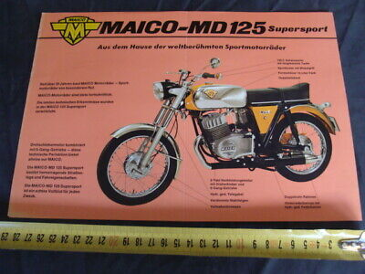 Brochure Maico Md 125 Supersport Facile E Semplice Da Gestire
