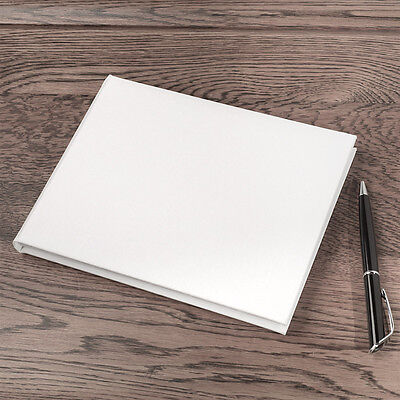 Large White Linen Guest Book For Decorating Plain Guestbook Boxed 30B1