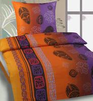 Sommer Bettwäsche 135x200 Oder 155x220 Erdfarben Microfaser Reissverschluß