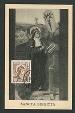 SCHWEDEN MK 1948 SANCTA BIRGITTA MAXIMUMKARTE CARTE MAXIMUM CARD MC CM d1210