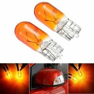 Paire-T10-W5W-Ambre-Phare-Ampoule-Halogene-Clignotant-Turn-Signal-pour-Ford-VW