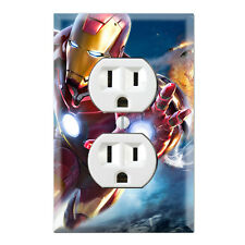 Iron Man Superhero Decorative Duplex Receptacle Outlet Wall Plate Cover SH03A