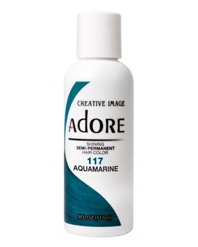 Adore Semi Permanent Hair Dye Colour Ammonia Peroxide Alcohol 118 Ml 117 Aquamarine Ebay