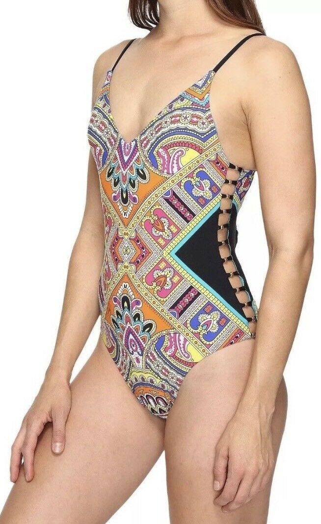 Trina Turk Nepal Strappy One Piece Swimsuit New Size 12 NWT