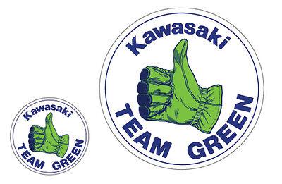 KAWASAKI VINTAGE TEAM GREEN ROUND DECAL GRAPHIC REPRODUCTION SET