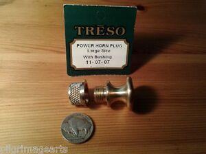 Powder-Horn-Base-plug-solid-brass-LARGE-size-Muzzleloading-Black-powder-USA