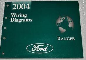 2004 FORD RANGER Electrical Wiring Diagrams Service Shop Repair Manual EWD 04