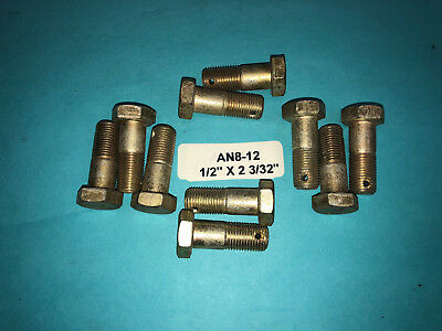 """AN8-12 Bolt 1//2"""" x 1-11//32"""" Long Drilled Shank Aircraft Aviation Hardware 10"""