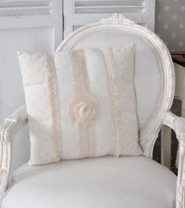 Dettagli su Cuscino Stile Country Decorativo Bianco Divano Incl.  Imbottitura Paradekissen