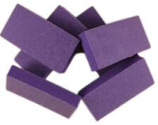 20pc Nail Buffer Medium Buffer Blocks 80/80 Grit Purple Buffer White Grit