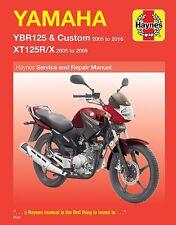 Manual de Haynes 4797 Yamaha YBR125 Custom 2005-2016 XT125X Supermoto 2005-2009