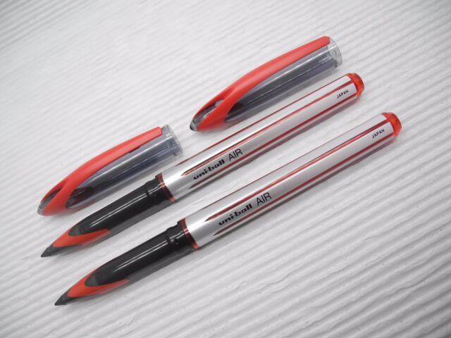 NEW 2pcs UNI-BALL UBA-188L 0.7mm roller ball pen  with cap RED(Japan)