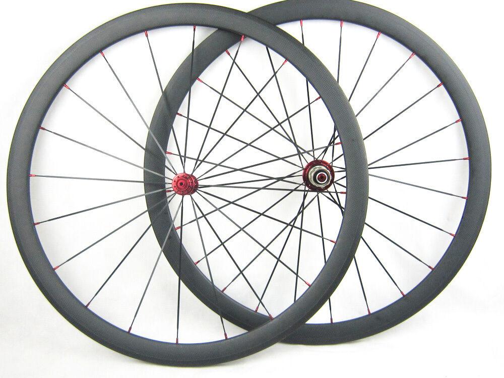700 C 38 mm Fibra de Carbono Bicicleta de carretera de carbono Ruedas de ciclo de ruedas tubular Remachador