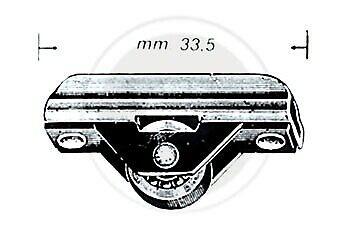 100 pz Omge art 451 carrello a 1 ruota pattino rotella per cristalli