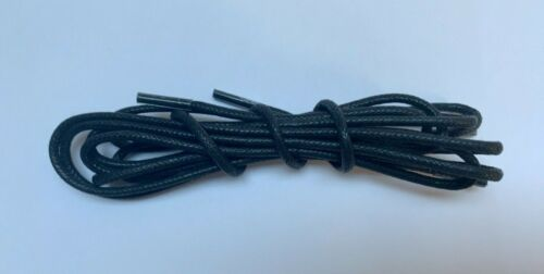 2 mm THIN WAXED  COTTON LACES FOR LEATHER SHOES BROGUES 6 SIZES 30 COLOURS