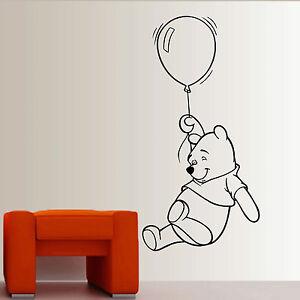 Winnie-the-Pooh-infantil-cuarto-del-bebe-Vinilo-Adhesivo-mural-Dormitorio