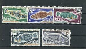 franz. Antarktisgebiete MiNr. 60-64 postfrisch MNH Fische (1B133