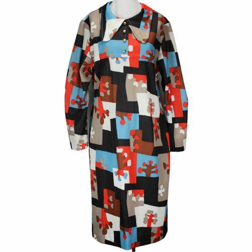 60s Vintage Mod Dress, Mondrian Eames Style Print,