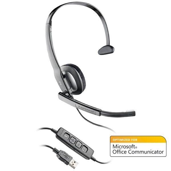 Lot of 2 Plantronics Blackwire C210-M Mono Computer USB Headset for MOC and Lync