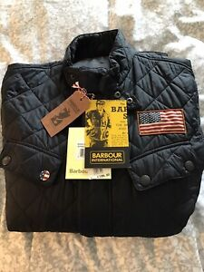 Mens-Barbour-Steve-McQueen-Jeffries-Jacket-Used-Size-XL-In-Navy