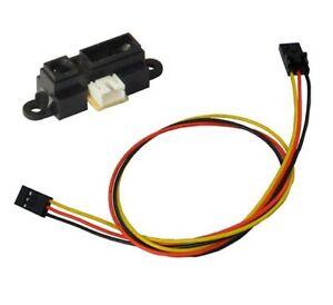 5PCS GP2Y0A21YK0F Sharp IR Analog Distance Sensor 10-80CM Cable For Arduino