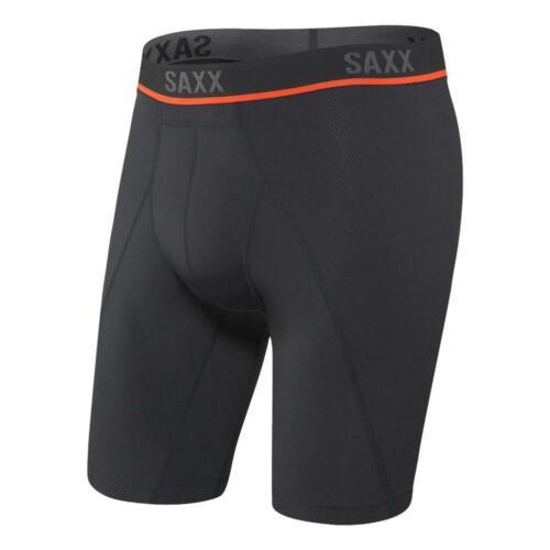 Black BNWT Saxx NEW Men/'s Kinetic HD Long Leg Boxer Briefs