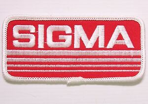 VINTAGE-CHRYSLER-SIGMA-EMBROIDERED-PATCH-LARGE-WOVEN-CLOTH-BADGE-SEW-ON-RACING-R