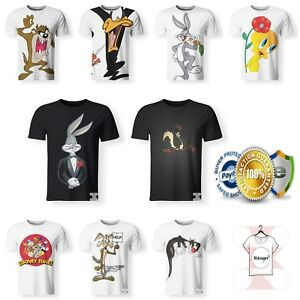 New-Looney-Tunes-Taz-Tweetie-Silvestre-Warner-Bros-Funny-T-Shirt-3D-Print-S-7XL